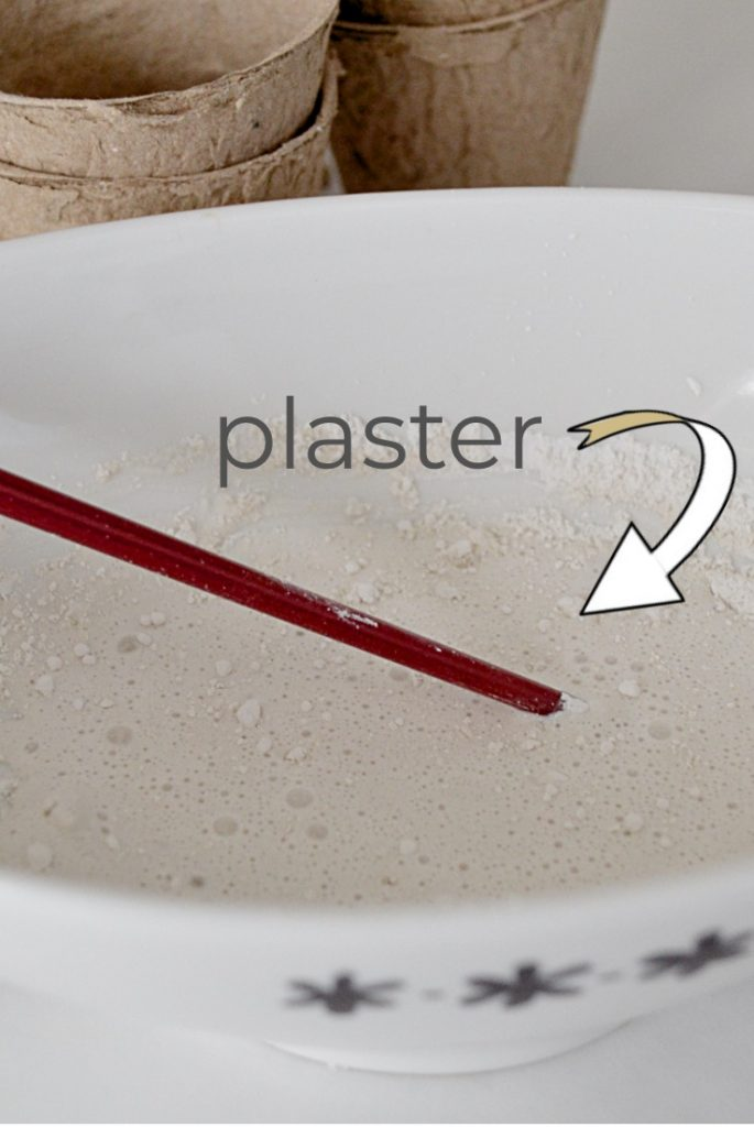 plaster mixed in bowl