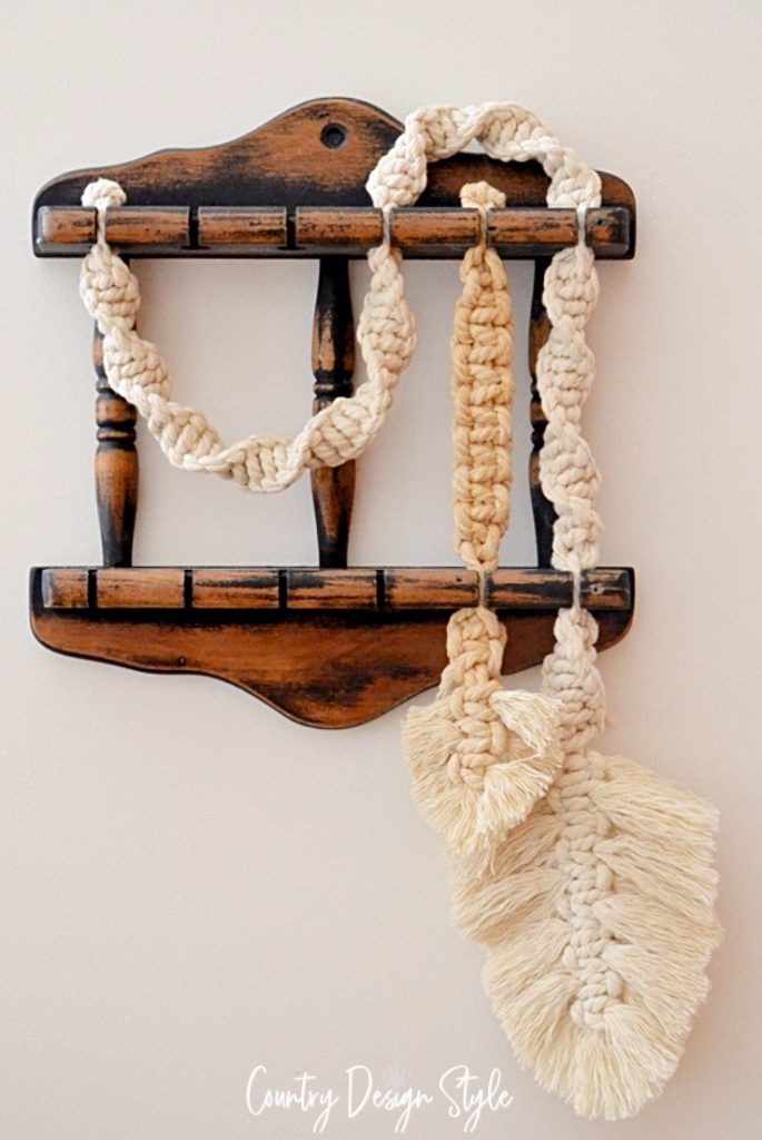 finished DIY macrame wall hanging