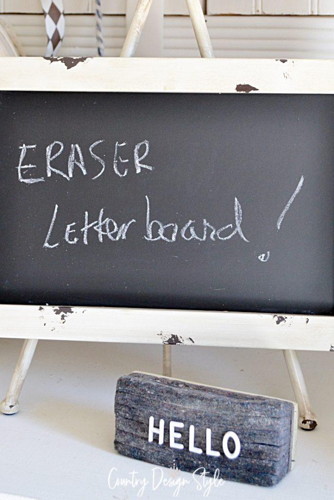 chalkboard and eraser