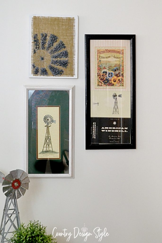 windmill wall decor collection of 3