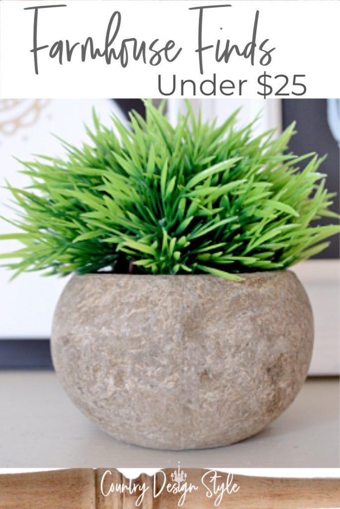 green faux plant