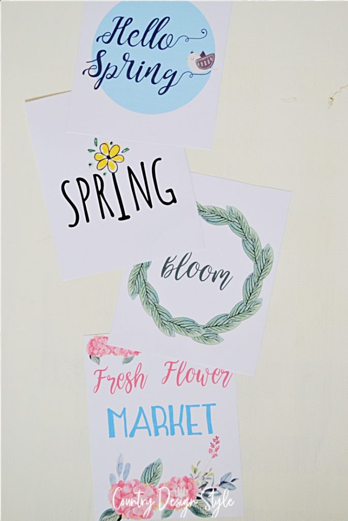 spring printable unframed