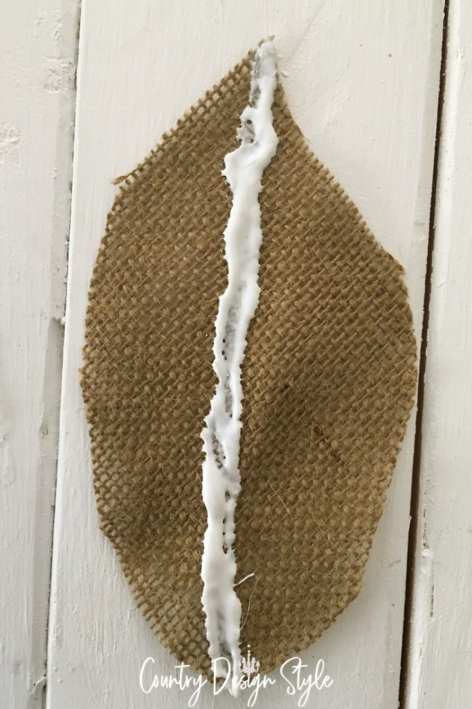 glue holding fibers of burlap