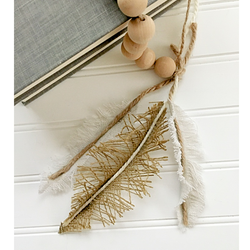 DIY craft feathers done