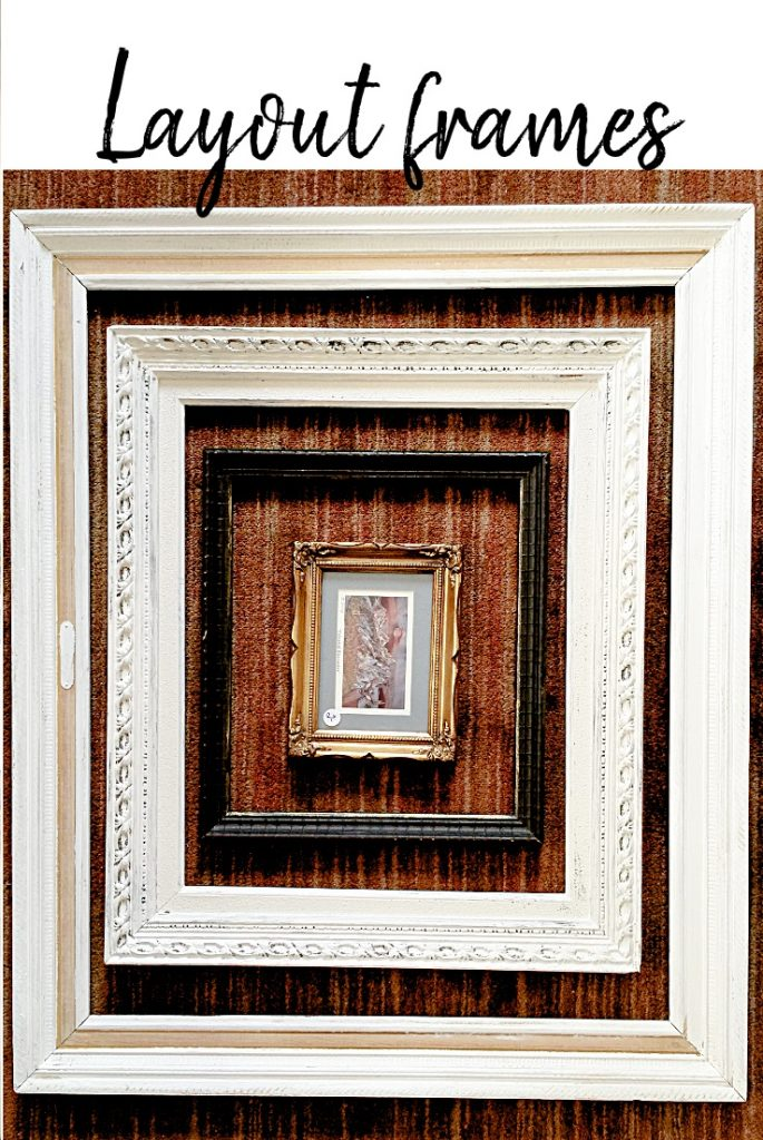 collection of different size photo frames