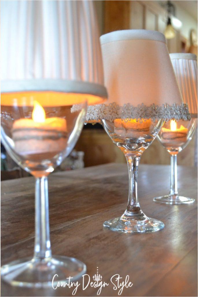 Lighting with wine glasses