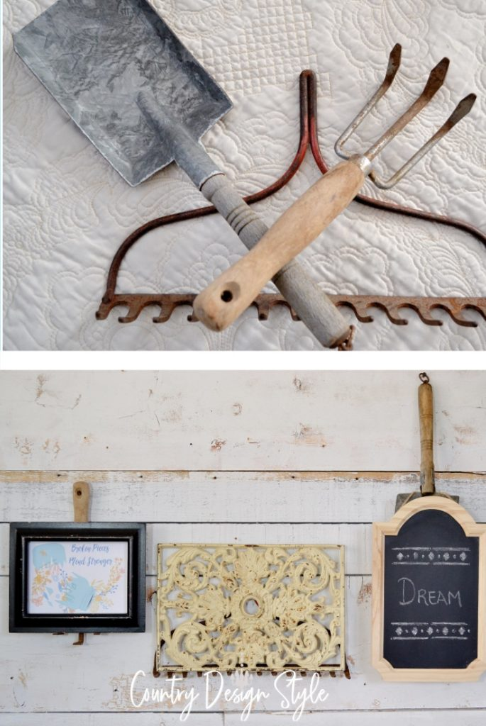 tools and gallery wall
