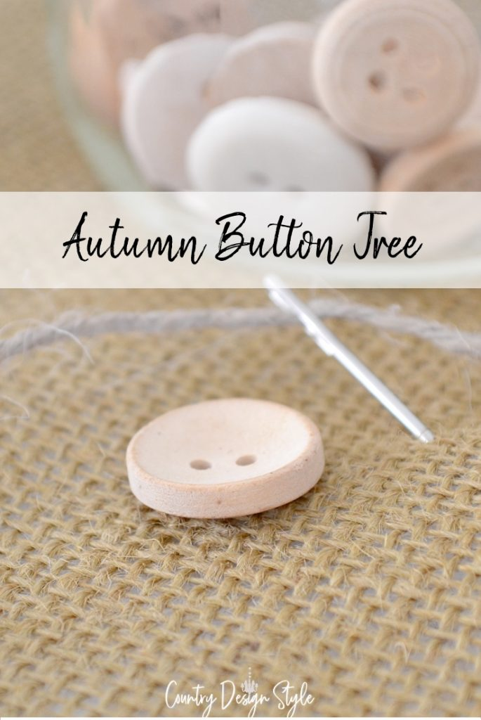 closeup of button and needle