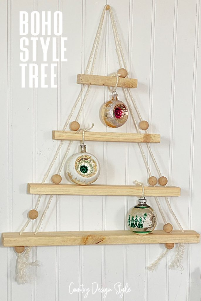 Tree hanging with vintage bulbs