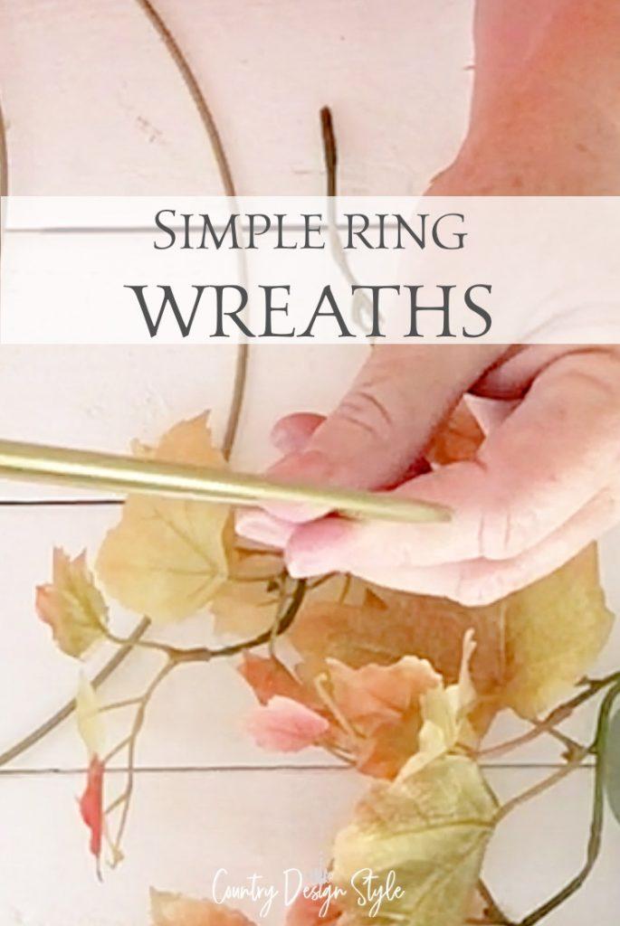 closeup of ring wreath