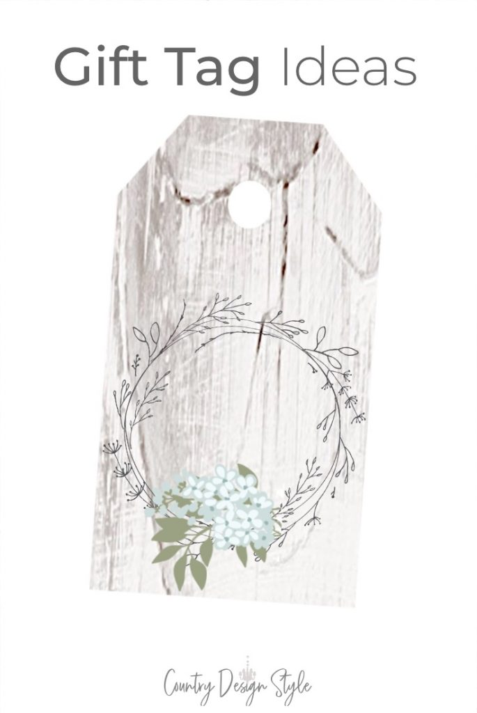 wood printable tag