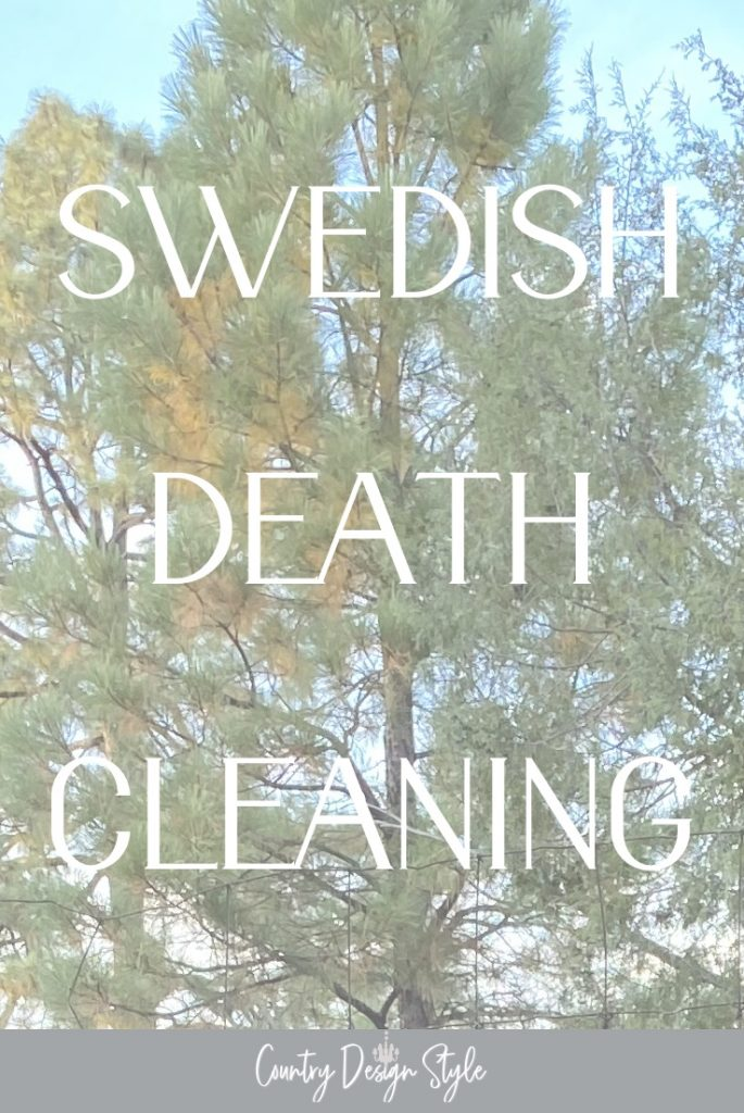green tree with text swedish death cleaning