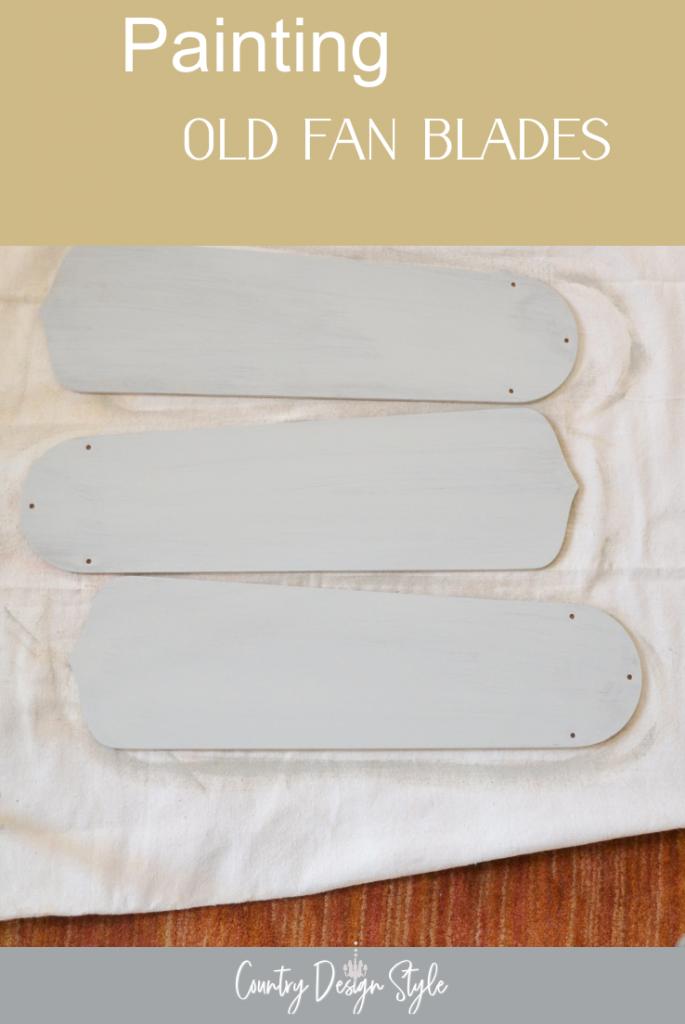 fan blades painted