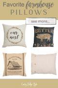 four farmhouse pillows