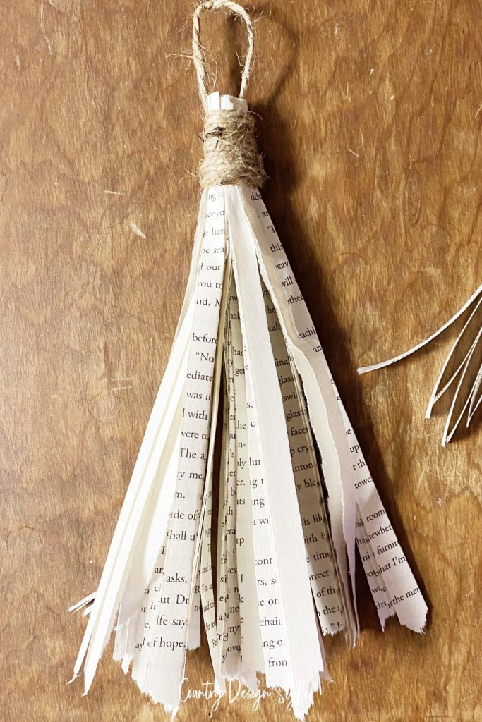 close up of book page tassel