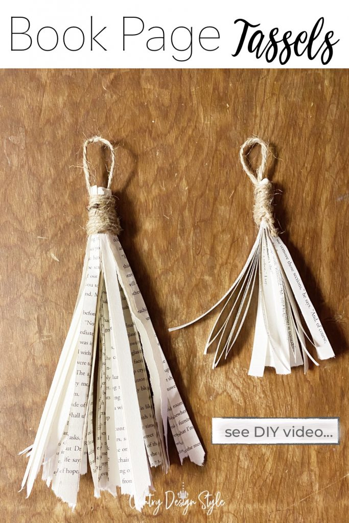 Two book page tassels finished