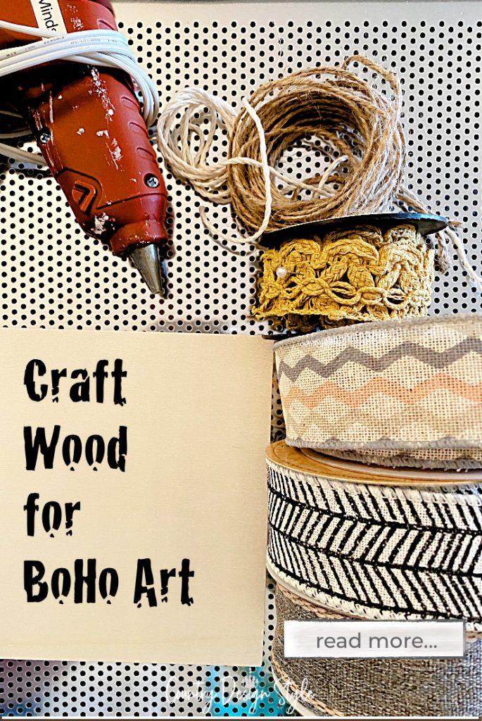 supplies for boho ribbon art